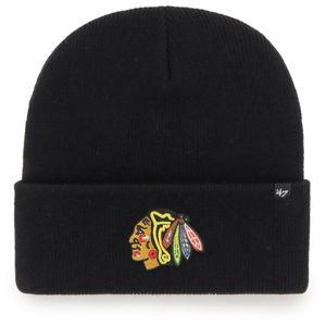 47 NHL CHICAGO BLACKHAWKS HAYMAKER '47 CUFF KNIT BLK  UNI - Zimná čiapka