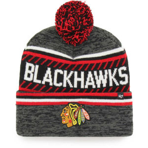 47 NHL CHICAGO BLACKHAWKS ICE CAP '47 CUFF KNIT GRY  UNI - Zimná čiapka