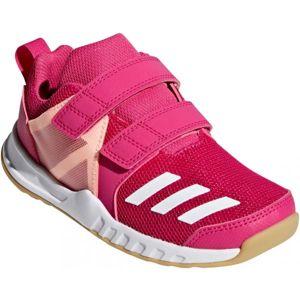adidas FORTAGYM CF K ružová 3.5 - Detská športová obuv
