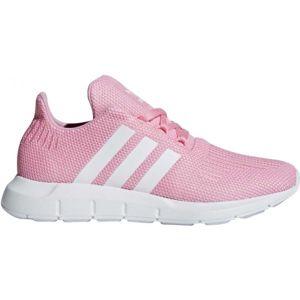 adidas SWIFT RUN J ružová 6.5 - Detská voľnočasová obuv