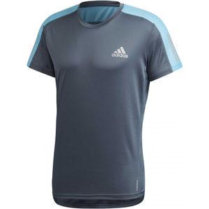 adidas OWN THE RUN TEE modrá XL - Pánske tričko