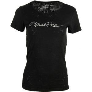 ALPINE PRO BELENA čierna XS - Dámske tričko