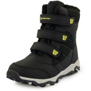 ALPINE PRO KURTO biela 29 - Detská zimná obuv
