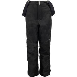 ALPINE PRO MEGGO čierna 140-146 - Detské lyžiarske nohavice