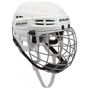 Bauer IMS 5.0 COMBO biela L - Hokejová prilba