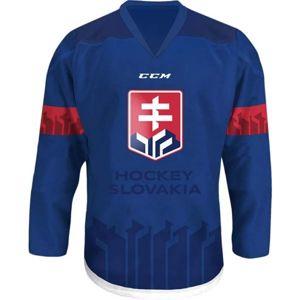 CCM JR HOKEJOVÝ DRES SLOVAKIA modrá XXS - Juniorský hokejový dres
