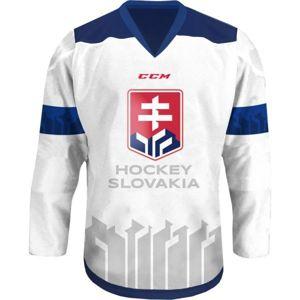 CCM HOKEJOVÝ DRES S VÝŠIVKOU biela S - Hokejový dres