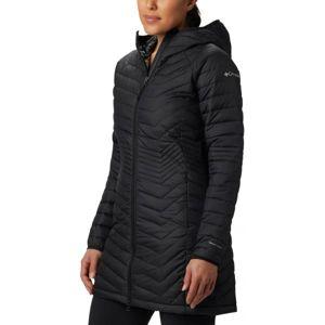 Columbia POWDER LITE MID JACKET čierna S - Dámska dlhá zimná bunda