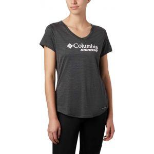 Columbia W TRINITY TRAIL GRAPHIC TEE čierna M - Dámske športové tričko