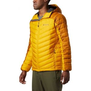 Columbia HORIZON EXPLORER HOODED JACKET žltá L - Pánska zateplená bunda