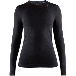 Craft FUSEKNIT COMFORT RN LS W čierna S - Dámske funkčné tričko