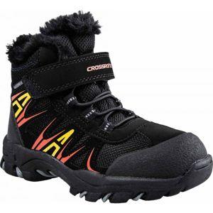Crossroad CASIM čierna 35 - Detská treková obuv