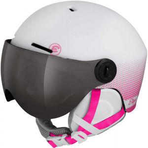 Etape SPEEDY PRO ružová (55 - 56) - Detská lyžiarska prilba so zorníkom