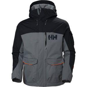 Helly Hansen FERNIE 2.0 JACKET šedá L - Pánska lyžiarska/snowboardová bunda