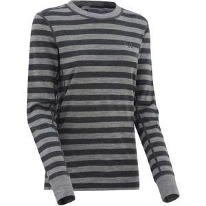 KARI TRAA ULLA sivá M - Dámske vlnené tričko s dlhým rukávom