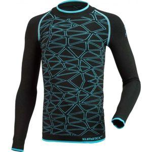 Klimatex ANTEL čierna 146-158 - Chlapčenské funkčné bezšvové tričko