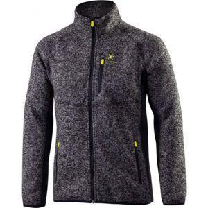 Klimatex KADRAT šedá XXL - Pánsky outdoorový sveter