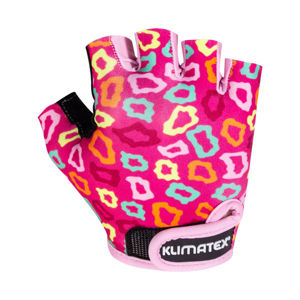 Klimatex KOTTE fialová 4 - Detské cyklistické rukavice