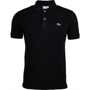 Lacoste SLIM SHORT SLEEVE POLO čierna M - Pánske tričko polo