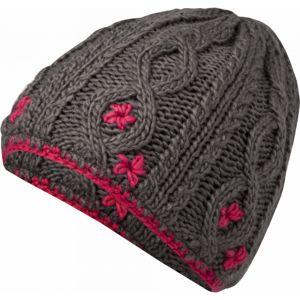 Lewro CARBINK šedá 4-7 - Dievčenská pletená čiapka