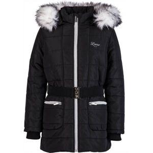 Lewro NATALIE čierna 116-122 - Dievčenský zimný kabát