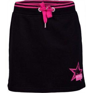 Lewro VASJA čierna 128-134 - Dievčenská sukňa