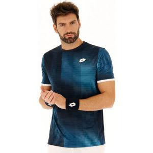 Lotto TOP TEN II TEE PRT PL tmavo modrá L - Pánske tenisové tričko