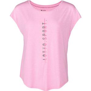 Lotto DINAMICO W III TEE PRT2 VI ružová M - Dámske tričko