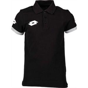 Lotto POLO STARS EVO JR čierna L - Detské polo tričko