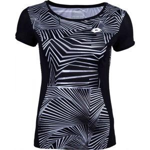 Lotto SUPERRAPIDA W III TEE PL čierna M - Dámske športové tričko