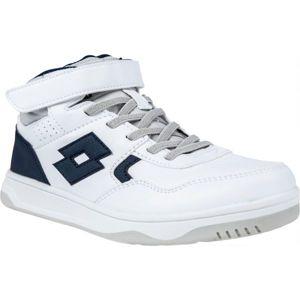 Lotto TRACER MID LTH CL SL biela 34 - Chlapčenská voľnočasová obuv