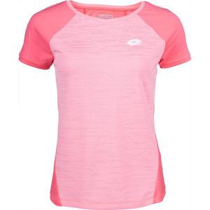 Lotto TOP TEN W II TEE PL ružová M - Dámske tenisové tričko
