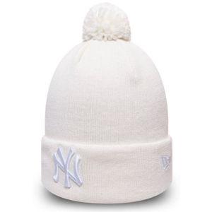 New Era WMN ESSENTIAL BOBBLE KNIT NEW YORK YANKEES biela UNI - Dámska zimná čiapka
