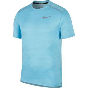 Nike DRY MILER TOP SS M modrá S - Pánske bežecké tričko