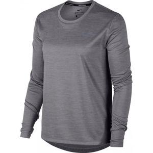 Nike MILER TOP LS sivá M - Dámske športové tričko