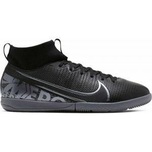 Nike JR MERCURIAL SUPERFLY 7 ACADEMY IC čierna 5Y - Chlapčenská halová obuv