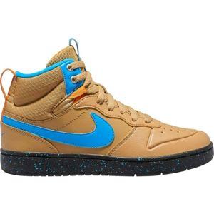 Nike COURT BOROUGH MID 2 BOOT GS hnedá 4 - Detská voľnočasová obuv