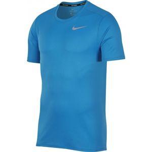 Nike BRTHE RUN TOP SS modrá XXL - Pánske bežecké tričko