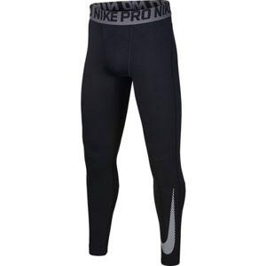 Nike NP THERMA TIGHT GFX B čierna M - Chlapčenské tréningové legíny