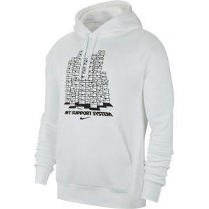 Nike NSW PO HOODIE FLC FW CLTR 8 biela XL - Pánska mikina