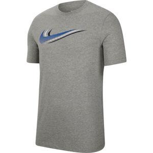 Nike NSW SS TEE SWOOSH M sivá L - Pánske tričko