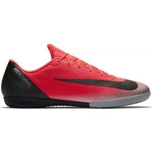 Nike MERCURIALX CR7 VAPOR 12 ACADEMY IC červená 9 - Pánska halová obuv