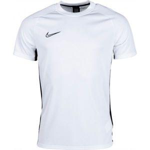Nike DRY ACDMY TOP SS biela 2XL - Pánske futbalové tričko