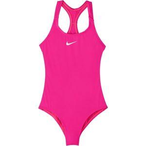 Nike SOLID ružová XL - Dievčenské jednodielne plavky