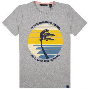 O'Neill LB PALM PRINT T-SHIRT šedá 140 - Chlapčenské tričko