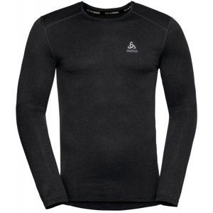 Odlo BL TOP CREW NECK L/S ACTIVE THERMIC čierna XXL - Pánske funkčné tričko