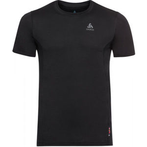 Odlo SUW MEN'S TOP CREW NECK S/S NATURAL+ LIGHT čierna XL - Pánske tričko
