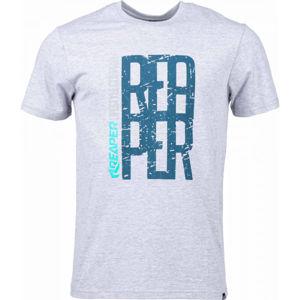 Reaper FONT šedá S - Pánske tričko