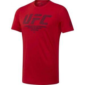 Reebok UFC FG LOGO TEE červená XXL - Pánske tričko