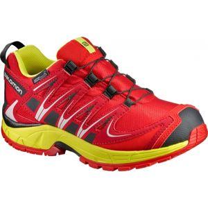 Salomon XA PRO 3D CSWP K červená 26 - Detská bežecká obuv